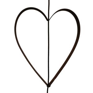 Outline Hjerte metal rust til SNOREN