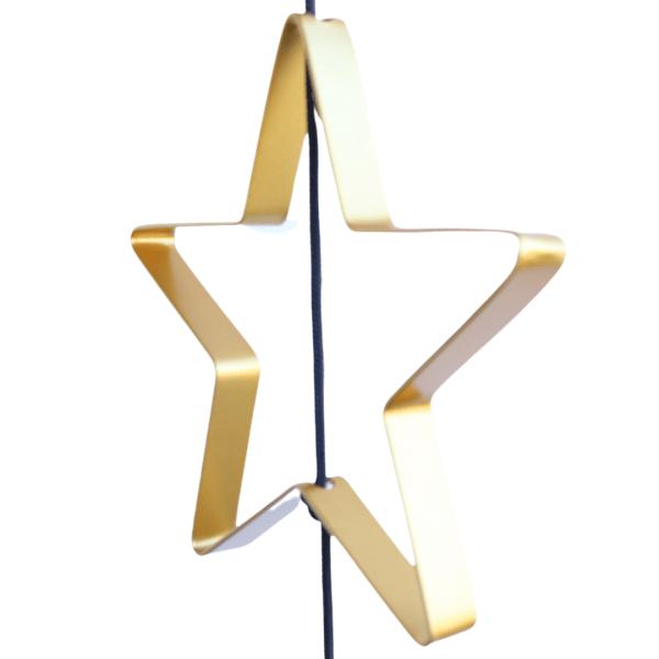 Stjerne Outline til SNOREN. Metal I guld.