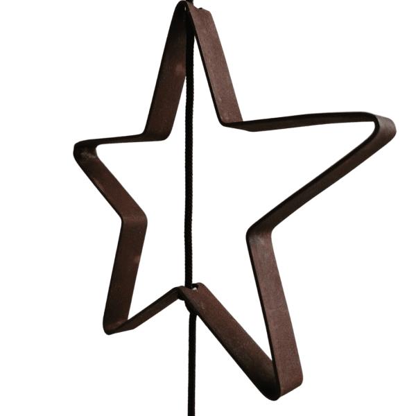 Stjerne Outline til SNOREN. Metal I rust.